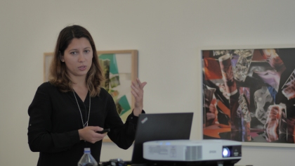 Artist Anastasia Samoylova speaks at South Campus