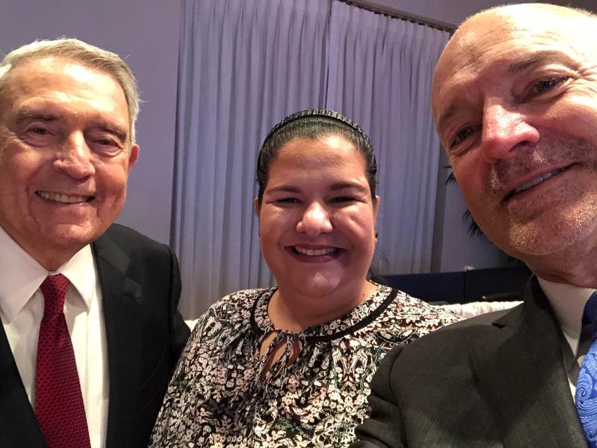 Dan rather, Sara Varela, and J. David Armstrong, Jr.