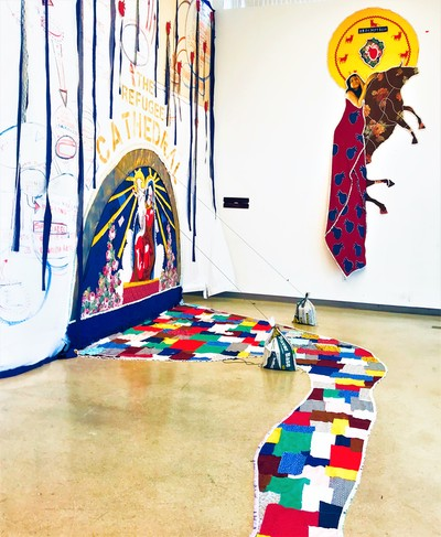 Professor Jonatas Chimen's art gallery exhibit