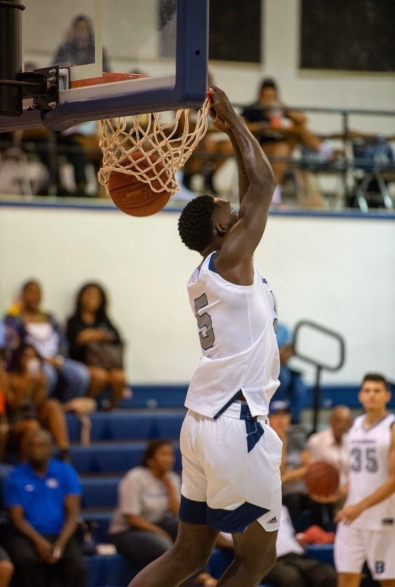 Sophomore Forward DeAndre Pinckney dunking/ Photo courtesy of BC Athletics Department